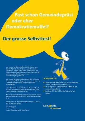 Selbstest zum Thema Demokratie (download PDF) - Gemeinde ...