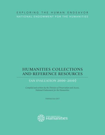 HCRR Evaluation Report - National Endowment for the Humanities