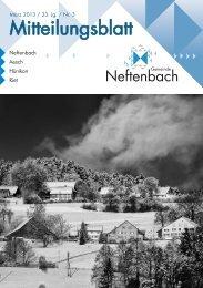 Mitteilungsblatt - Neftenbach