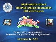 Nimitz Middle School Schematic Design Presentation - North East ...
