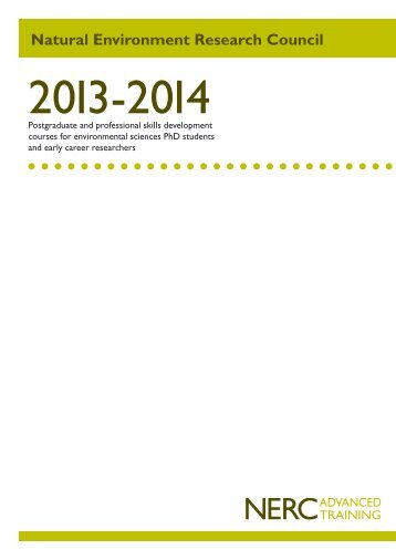 PPSD courses brochure - NERC
