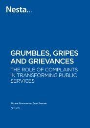 Grumbles, Gripes and Grievances - Nesta