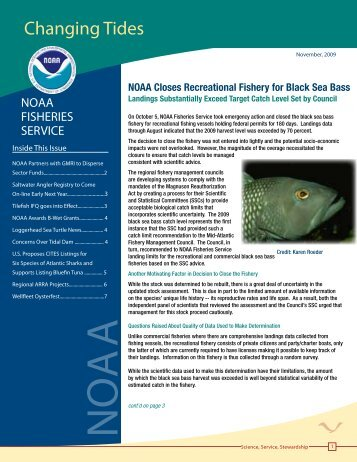 changing Tides - National Marine Fisheries Service - NOAA