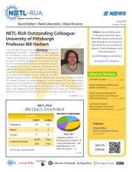NETL-RUA Outstanding Colleague: University of Pittsburgh ...