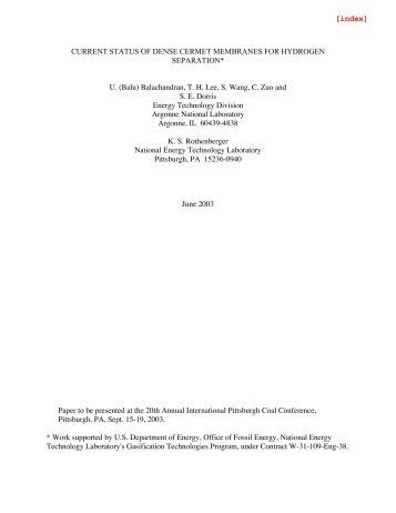 Current Status of Dense Cermet Membranes for Hydrogen Separation