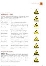 Gefährliche Stoffe, Kennzeichnung und Gefahrenhinweise