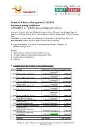 Protokoll 5. Beiratssitzung vom 21.03.2013 Stadterneuerung ...