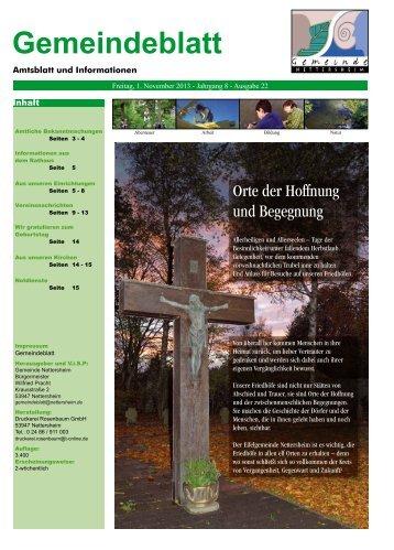 Gemeindeblatt 22, 2013 - Nettersheim