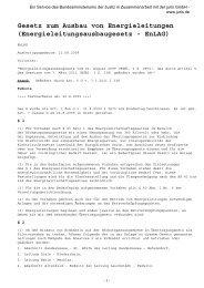Energieleitungsausbaugesetz - Netzausbau in Niedersachsen
