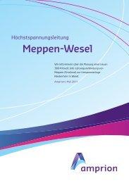 Broschüre von Amprion - Netzausbau in Niedersachsen