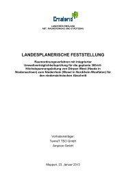 Landesplanerische Feststellung - Netzausbau in Niedersachsen