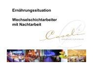 Ernährungssituation Schichtarbeit voestalpine - Österreichisches ...