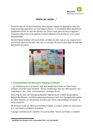 Wohin wir wollen ... - Netzwerk Bildung & Architektur