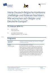 Vierte Deutsch-Belgische Konferenz - Netzwerk Europäische ...