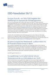 EBD-Newsletter 06/13 - Netzwerk Europäische Bewegung ...