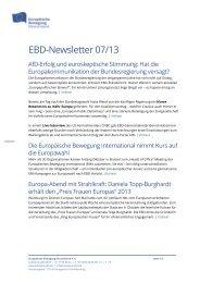 EBD-Newsletter 07/13 - Europäische Bewegung Deutschland