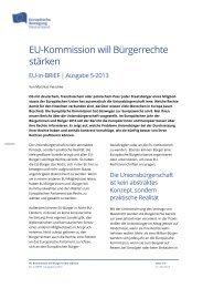 EU-Kommission will Bürgerrechte stärken - Netzwerk Europäische ...