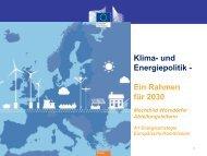 Klima- und Energiepolitik - Ein Rahmen für 2030