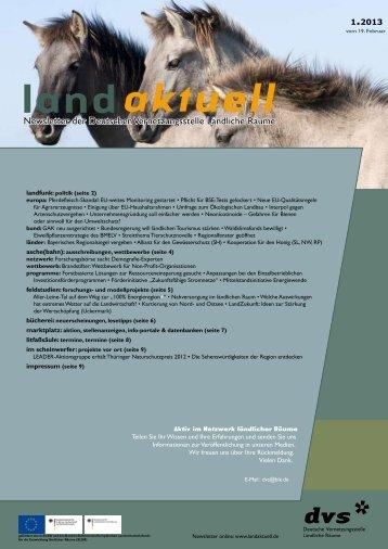"""""""Landaktuell"""" 1/2013 - Deutsche Vernetzungsstelle Ländliche Räume"""