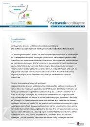 Download PM Bilanz 2013 des netzwerk nordbayern