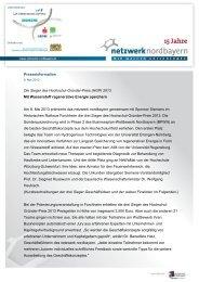 Download PM Sieger HGP 2013 - Netzwerk Nordbayern