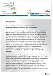 Download PM Sieger 15. Businessplan-Wettbewerb Nordbayern
