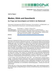Call for Papers - Netzwerk Medienethik