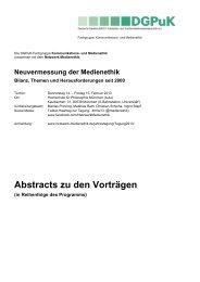 Alle Abstracts zu den Vorträgen (*.pdf) - Netzwerk Medienethik