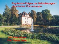 Psychische Folgen von Behinderungen / chronischen Erkrankungen