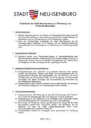 Förderrichtlinie - Neu-Isenburg