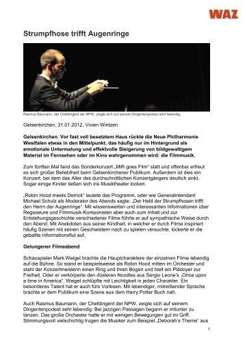 Strumpfhose trifft Augenringe - Neue Philharmonie Westfalen