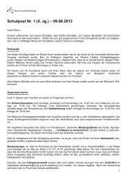 Schulpost Nr. 1 (5. Jg.) – 09.08.2013 - Neue Schule Wolfsburg