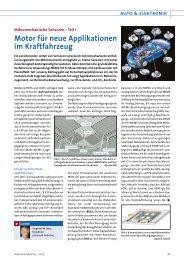 Motor für neue Applikationen im Kraftfahrzeug - All-electronics.de