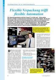 Flexible Verpackung trifft flexible Automation - Neue Verpackung
