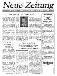 Mit widersprüchlichen Gefühlen - Neue Zeitung