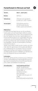 Freizeiten 2013 web - Kreisstadt Neunkirchen - Page 5