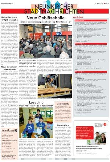 Neunkircher Stadtnachrichten 2013 KW-15 - Kreisstadt Neunkirchen
