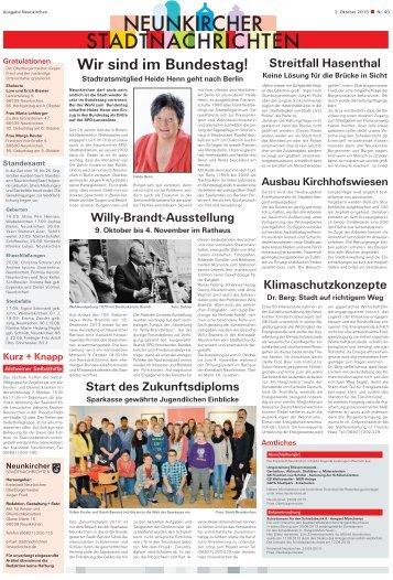 Neunkircher Stadtnachrichten 2013 KW-40 - Kreisstadt Neunkirchen
