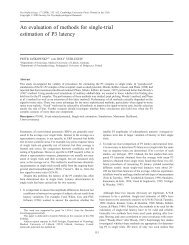 An evaluation of methods for single-trial estimation of P3 latency