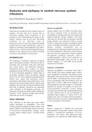Seizures and epilepsy in central nervous system ... - Neurology Asia