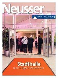 Neusser: Stadthalle – Feiern, Tagen Kennenlernen - Neuss Marketing