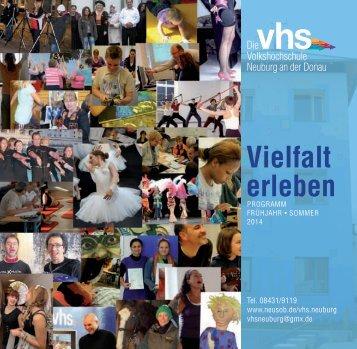 Vielfalt erleben - beim Bürgernetz Neuburg-Schrobenhausen