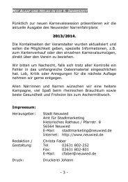 können Sie den Narrenfahrplan 2013/2014 als PDF ... - Stadt Neuwied