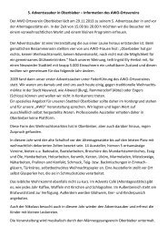 5. Adventszauber in Oberbieber – Information des ... - Stadt Neuwied