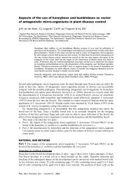Aspects of the use of honeybees and bumblebees as vector of ...