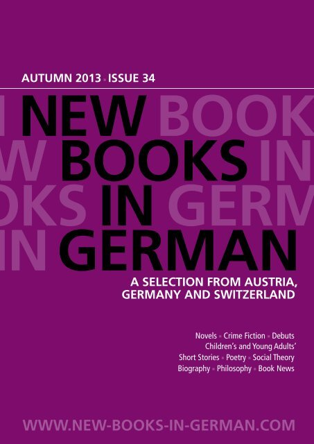 Issue 34 New Books In German