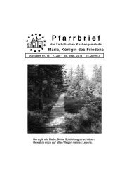 Download pdf - Pfarrei Maria, Königin des Friedens