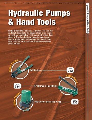 Hydraulic Pumps & Hand Tools - Newark
