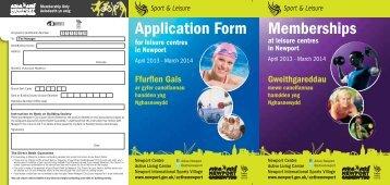membership form - Newport City Council