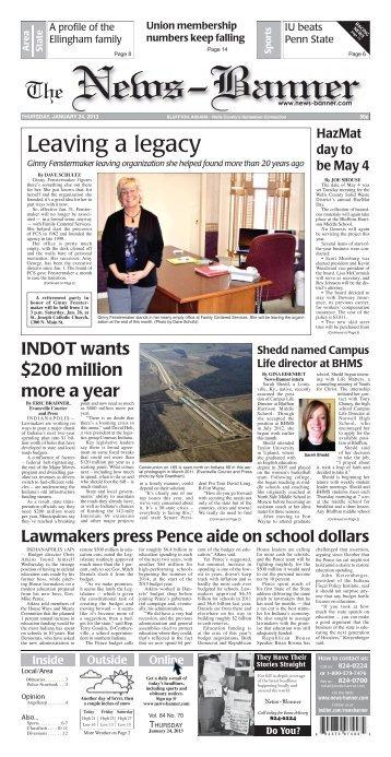 Leaving a legacy - Bluffton News Banner
